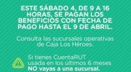 Mañana sábado: Caja Los Héroes abre 17 sucursales para que beneficiarios del IPS de 70 y más años cobren sus pensiones