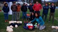 Alcalde Alessandri inaugura pionero programa en primeros auxilios para jóvenes deportistas.
